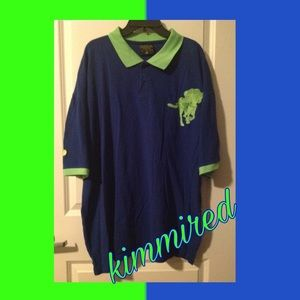 Other - 💙💚Big Mens Blue/Green S/S Polo Shirt ~ 4X 💚💙